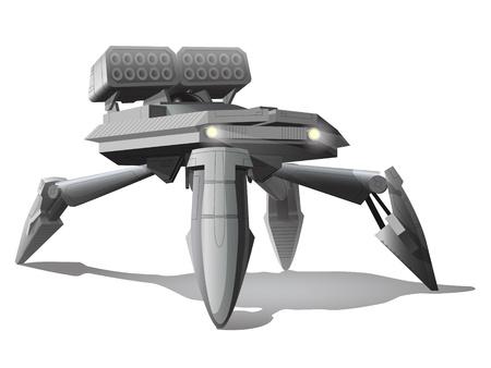 metal legs: future spider tank