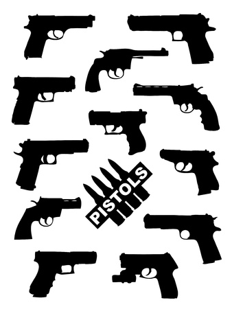 handgun: Weapon collection, pistols Illustration