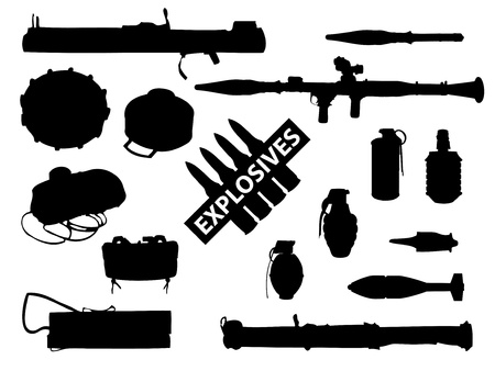 Weapon collection, explosives Stock Vector - 10364162