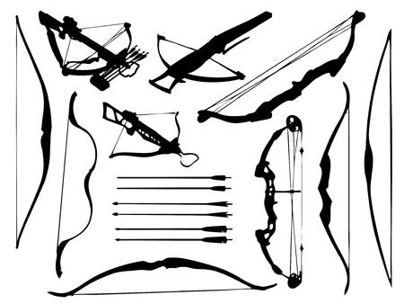 arco y flecha: Flechas, arco, ballesta y acopio de armas