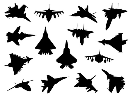 Weapon collection, fighter jets Vector