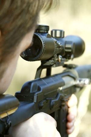 sniper aiming photo