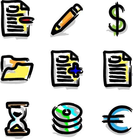 Vector web icons marker colour contour various