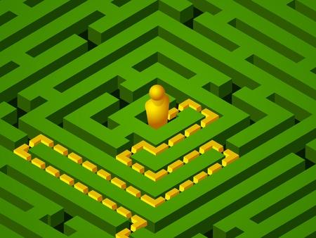 green maze success Stock Vector - 10376544