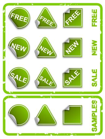 backing: Vector green commerce stickers