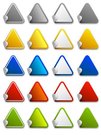 Web stickers, labels and icons - triangle