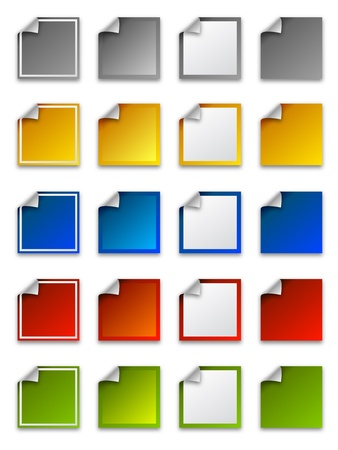 Web stickers, labels and icons - square