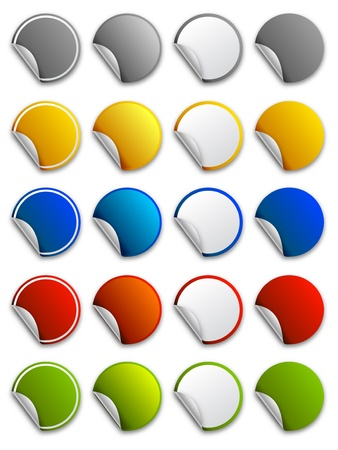 Web stickers, labels and icons - round