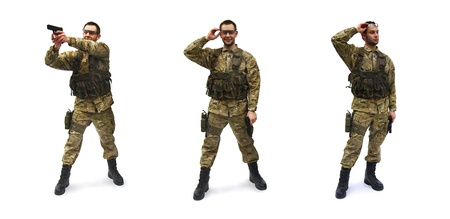 airsoft soldier white background Stock Photo - 10376538