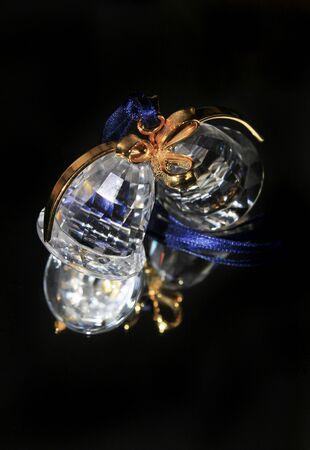 crystal xmas bell Stock Photo