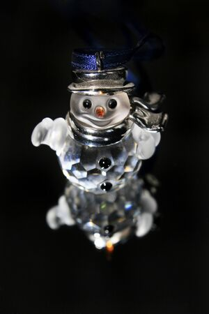 crystal xmas snowman Stock Photo