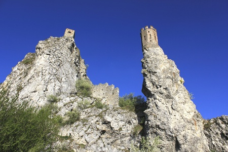 historic ruins of castle Devin Banco de Imagens