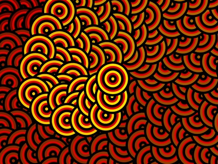 Hypnotic spiral background Illustration