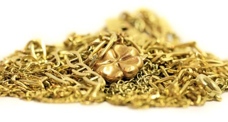 luck in money, pile of luxury gold