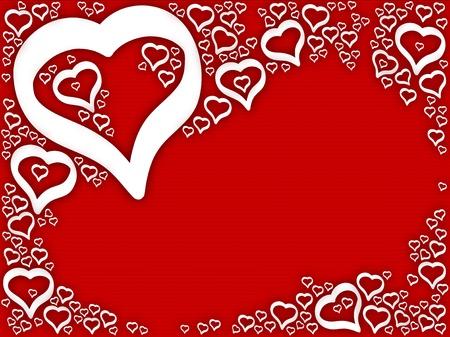 Background valentine hearts