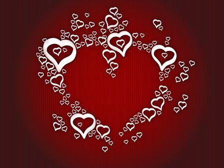 Illustration love hearts