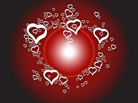 Background love bright hearts Illustration
