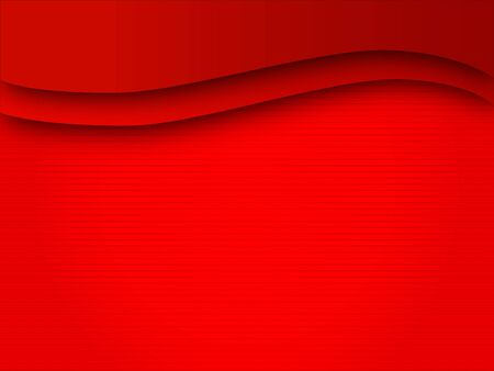 Background wave lines red field Illustration