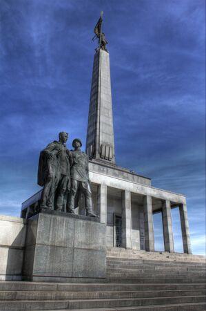memorial landmark for fallen soldiers of world war 2