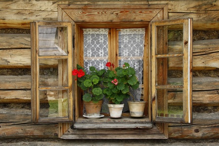 wooden calmness window photo