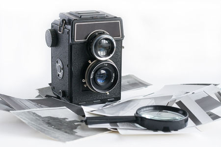 Old Fashion antique camera Stock Photo