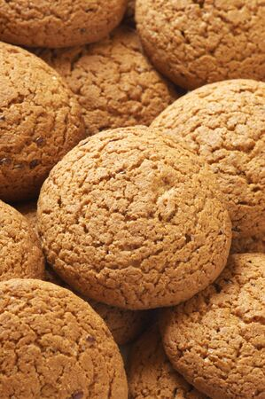 Heap of oatmeal cookies close-up. Full frame. Stock Photo - 5290673