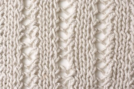 Laced rib knit of cotton yarn as background. photo