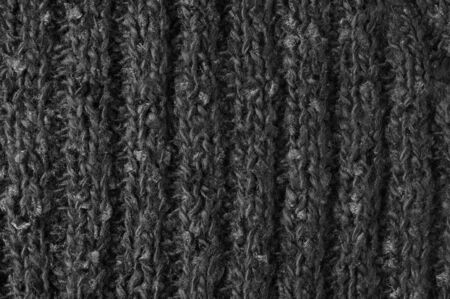 Rib knit of black melange wool yarn as background. Stock Photo - 7950028