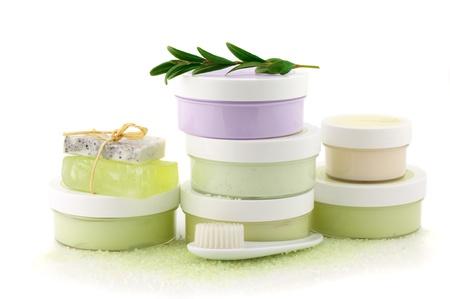 Set of vaus SPA cosmetics isolated on white background. Stock Photo - 9998863
