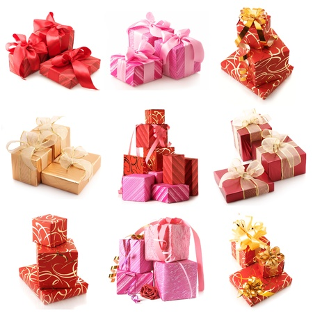 Set of various gifts isolated on white background. Stock Photo - 11205103