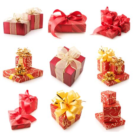 Set of various gifts isolated on white background. Stock Photo - 11306468