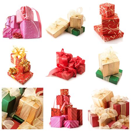 Set of various gifts isolated on white background. Stock Photo - 11306484