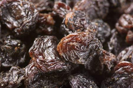 Close-up of dark raisins (currant). photo