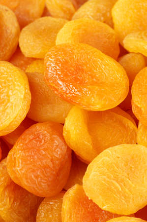 Heap of dried apricots close-up. photo