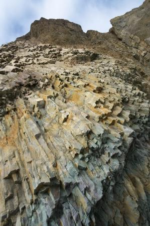 columnar: Columnar jointed rock in Crimea.