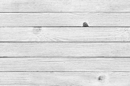 Rustic painted white wood plank texture background.