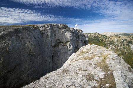 scarp: Small belvedere on steep rock. Crimea.