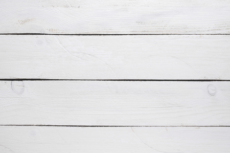 White painted wood background.