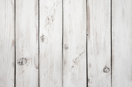 aged wood: Vintage weathered shabby white painted wood texture as background.