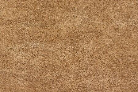 Natürliche Bräune Farbe Wildleder Textur als Hintergrund. Standard-Bild