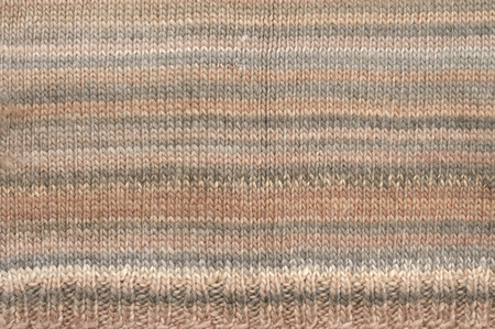 Knitted Cloth Plain Stitch Texture Of Melange Beige And Brown