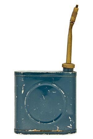 vintage thinner dispenser isolated over white photo