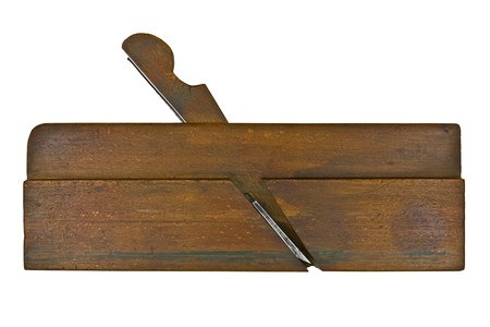 vintage moulding plane isolated over white background