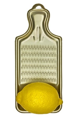 vintage ginger grater isolated over white background Stock Photo