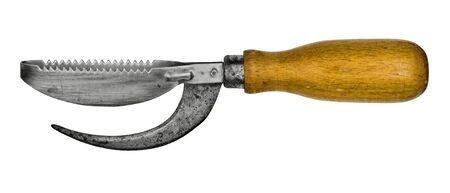vintage fish knife isolated over white background