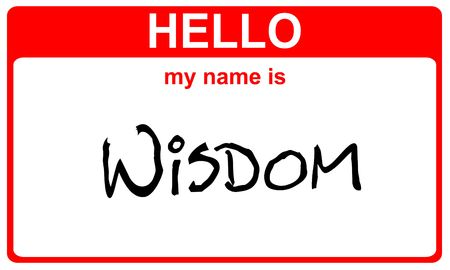 hello my name is wisdom red sticker Stock Photo - 4656827