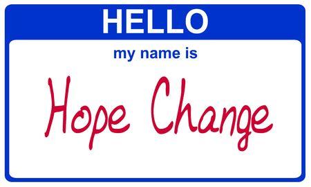 こんにちは私の名前は希望変更ブルー ステッカーです。 写真素材