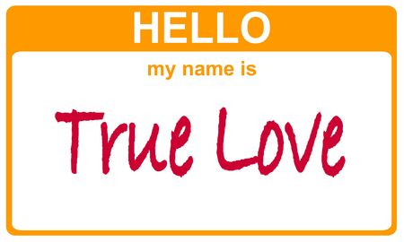 hello my name is true love sticker Stock Photo - 4690645