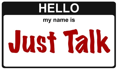 hello my name is just talk sticker Stock Photo - 16833592