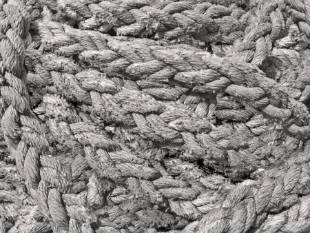 closeup of a cotton fiber vintage drifted rope